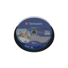 BD-R 25GB Verbatim 6x DATALIFE Inkjet bijela HTL 10 torta za torte 43804