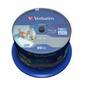 BD-R 25GB Verbatim 6x DATALIFE Inkjet bijela HTL 50 kutija za torte 43812