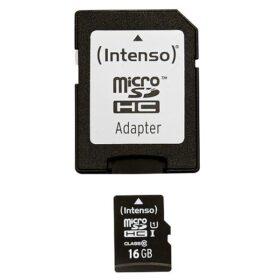 MicroSDHC 16GB Intenso Premium CL10 UHS-I + blister za adapter