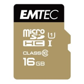 MicroSDHC 16 GB EMTEC + adapter CL10 Gold + UHS-I 85 MB / s blister