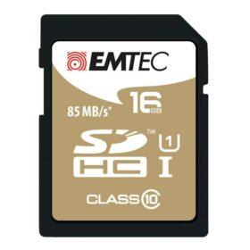 SDHC 16 GB EMTEC CL10 Gold + UHS-I 85MB / s blister