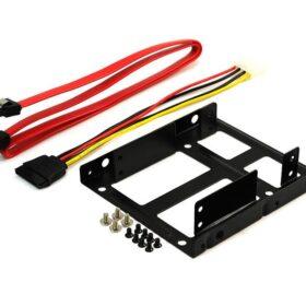 Dvostruki HDD / SSD Metalni ugradbeni okvir na 3,5 jezgre za 2x2,5 s kabelom