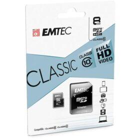 MicroSDHC 8 GB EMTEC + adapter CL10 CLASSIC blister