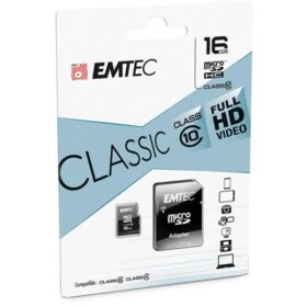 MicroSDHC 16 GB EMTEC + adapter CL10 CLASSIC blister