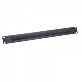 Logilink 19 kabelski uvod 1U s umetkom četke, crni (ORCEB1B)