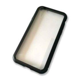Aluminijska futrola za iPhone 7 + 8 s magnetnom bravom (crna)