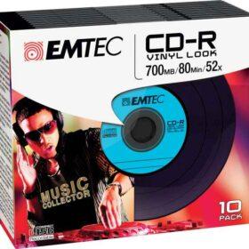 EMTEC CD-R vinil izgled 700 MB / 52x tanka torbica (10 kom)