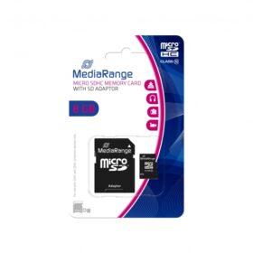 MediaRange MicroSD kartica 8 GB CL.10 uklj. Adapter MR957