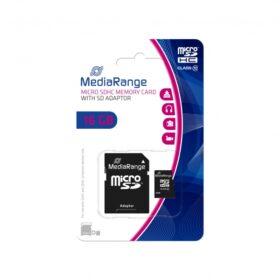 MediaRange MicroSD kartica 16 GB Cl.10 s prilagodnicom. MR958