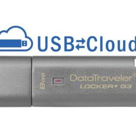 Kingston DataTraveler Locker + G3 8GB USB-Stick USB 3.0 Silber DTLPG3 / 8GB