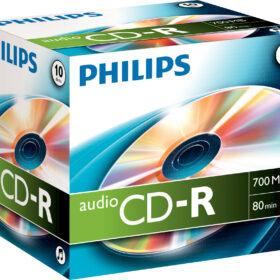 CD-R Philips Audio 80min kartonska kutija za dragulje CR7A0NJ10 / 00 od 10 kom