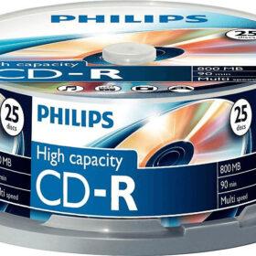 CD-R Philips 800MB 25er Spindel Multi Speed CR8D8NB25 / 00