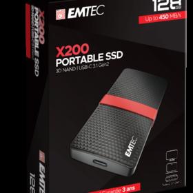 EMTEC SSD 128 GB 3,1 Gen2 X200 SSD prijenosni maloprodajni ECSSD128GX200