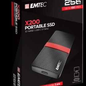 EMTEC SSD 256 GB 3,1 Gen2 X200 SSD prijenosni maloprodajni maloprodajni uređaj ECSSD256GX200