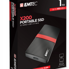 EMTEC SSD 1TB 3.1 Gen2 X200 SSD Prijenosni maloprodajni uređaj ECSSD1TX200