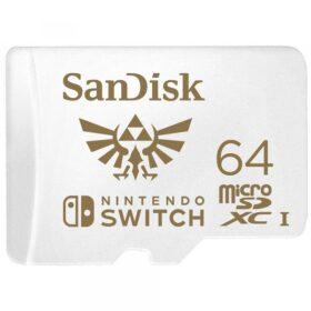 64 GB MicroSDXC SANDISK za Nintendo prekidač R100 / W60 - SDSQXAT-064G-GNCZN