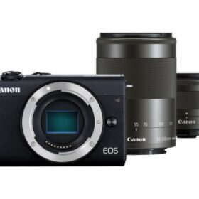 Canon EOS M200 komplet schwarz + EF-M 15-45 + 55-200 IS STM - 3699C018