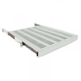 LogiLink 19 Ausziehbarer Fachboden für Schränke Tiefe 600mm grau (SF1S45G)