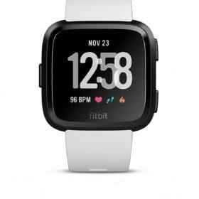 Fitbit Versa tragač za aktivnost narukvice bijeli / crni aluminij -