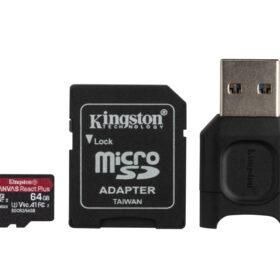 Kingston Canvas React Plus MicroSDXC SDCR2 64 GB s oglasom. + Čitač MLPMR2 / 64GB