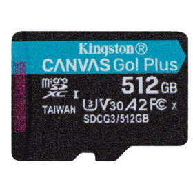 Kingston Canvas Go Plus MicroSDXC 512 GB jedan paket SDCG3 / 512GBSP
