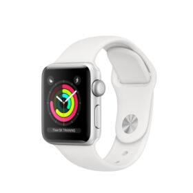 Apple Watch 3 srebrna aluminijumska futrola od 38 mm s bijelom sportskom trakom MTEY2ZD / A