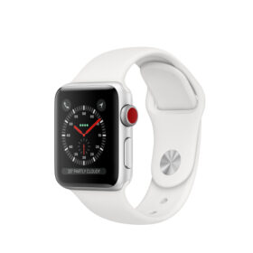 Apple Watch 3 srebrna aluminijumska futrola od 38 mm s bijelom sportskom trakom LTE MTGN2ZD / A