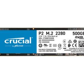 Crucial HDSSD M.2 (2280) 500 GB Crucial P2 NVMe Box CT500P2SSD8