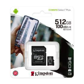 Kingston Canvas Select Plus MicroSDXC 512 GB UHS-I SDCS2 / 512 GB