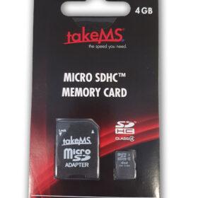 TakeMS MicroSDHC memorijska kartica 4 GB + adapter u maloprodaji