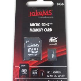 takeMS MicroSDHC memorijska kartica 8 GB maloprodaja +2 adaptera