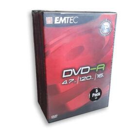 EMTEC DVD-R 4,7 GB 16x - 5 kutija za DVD