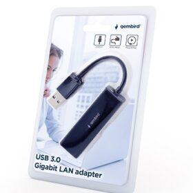 Gembird USB 3.0 za Gigabit LAN adapter s flash memorijom Crna NIC-U3-02