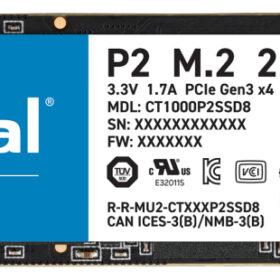 Presudan P2 SSD M.2 1TB NVMe PCIe 3.0 x 4 CT1000P2SSD8