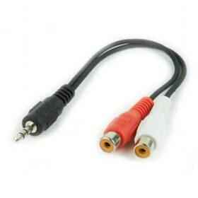 CableXpert 3,5 mm Klinkenstecker na 2xCinch stereo audiokabel 0,2 m CCA-406