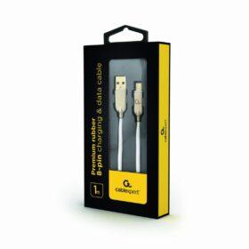 CableXpert 8-pinski kabel za punjenje 1 m bijeli CC-USB2R-AMLM-1M-W