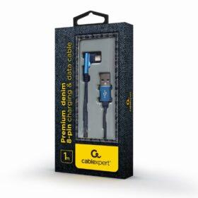 CableXpert 8-pinski kabel 1 m kutni priključak CC-USB2J-AMLML-1M-BL