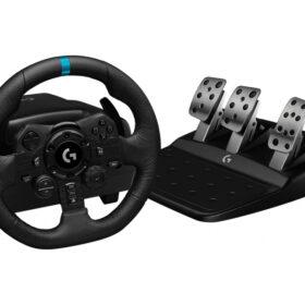Logitech G G923 - Volan + pedale - PC - PlayStation 4 - 900 ° - Žični - USB - Crna 941-0001