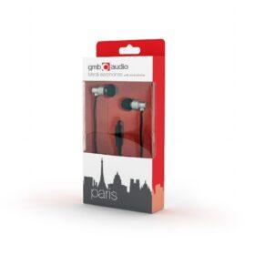 GMB Audio metalne slušalice s mikrofonom srebrne MHS-EP-CDG-S