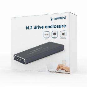 Gembird M.2 USB 3.0-Gehäuse schwarz EE2280-U3C-01