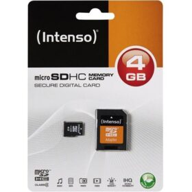 MicroSDHC 8GB Intenso + adapter CL4 blister