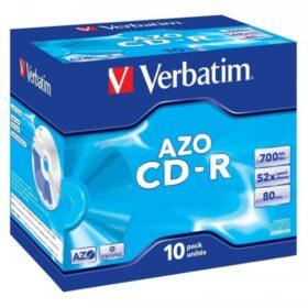 CD-R 80 Verbatim 52x DLP AZO 10 kutija za dragulje 43327