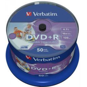DVD + R 4,7 GB Verbatim 16x Inkjet bijela Full Surface 50 kutija za torte 43512