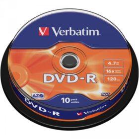 DVD-R 4,7 GB Verbatim 16x 10 torta za torte 43523