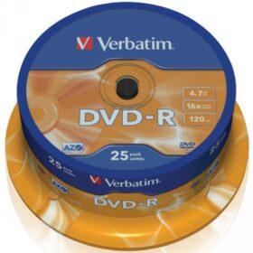 DVD-R 4,7 GB Verbatim 16x 25 torta za torte 43522