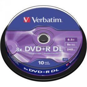 DVD + R 8,5 GB Verbatim 8x DL 10 CB 43666